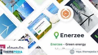 Enerzee – Renewable Energy WordPress Theme [Free download]