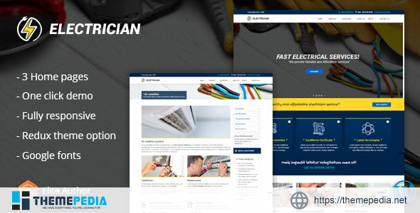 Electrician – Electrical And Repair Service WordPress Theme [Free download]
