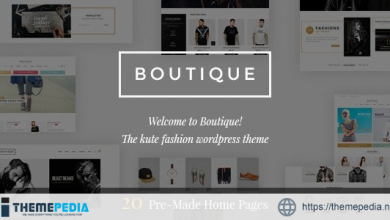 Boutique – Kute Fashion WooCommerce Theme ( RTL Supported ) [Free download]