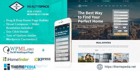 Realtyspace – Real estate WordPress Theme [Latest Version]