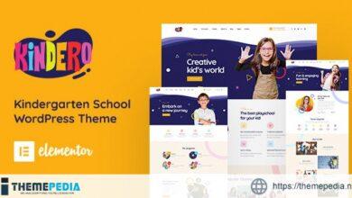 Kindero – Kindergarten School WordPress Theme [Free download]