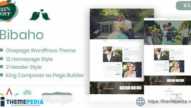 Bibaho – Wedding WordPress Theme [Free download]
