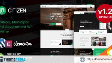 CityZen – Municipal and Government WordPress Theme + RTL [Free download]