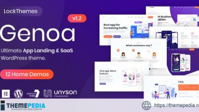 Genoa – SaaS & App landing WordPress theme [Updated Version]