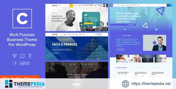 Capital – Multi Purpose Business WordPress Theme [Free download]