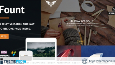 Fount – One & Multipage Hybrid WordPress Theme [Free download]
