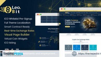Leobit – Crypto Currency WordPress Theme [Free download]