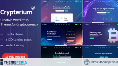 Crypterium – Cryptocurrency Agency WordPress Theme [Free download]