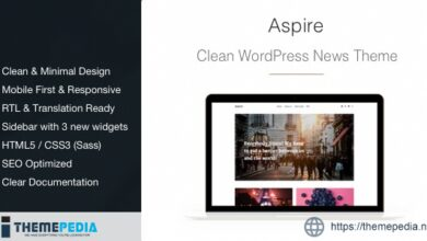 Aspire – News & Magazine Clean WordPress Theme [Updated Version]