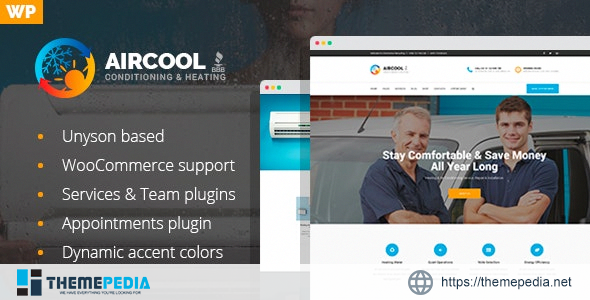 AirCool – Conditioning And Heating WordPress theme [Free download]