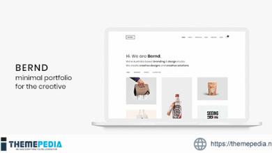 Bernd – Minimal WordPress Portfolio Theme [Free download]