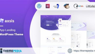 axsis – App Landing WordPress Theme [Free download]