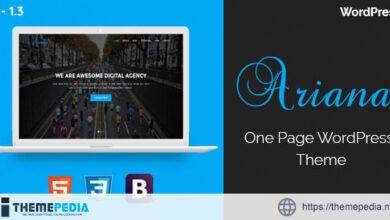 Ariana – Digital Agency WordPress Theme [Free download]
