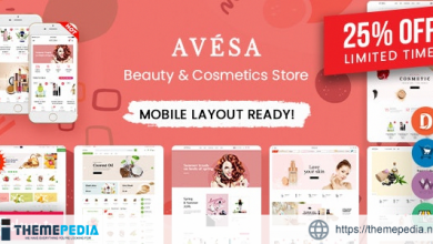 Avesa – Beauty, Cosmetics Store Elementor WooCommerce WordPress Theme (08+ Indexes + Mobile Layout) [Free download]