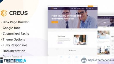 Creus – Business and Financial Consulting WordPress Theme [Free download]