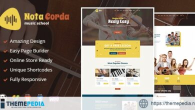 NotaCorda – Music School and Musicians WordPress Theme [Updated Version]