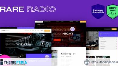 Rare Radio – Online Music Radio Station & Podcast WordPress Theme [Free download]
