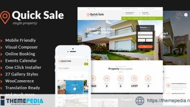 Quick Sale – Single Property Real Estate WordPress Theme [Free download]