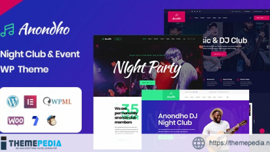 Anondho – Night Club & Event WordPress Theme [Free download]