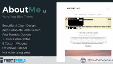 About Me – Creative & Clean WordPress Theme [Free download]