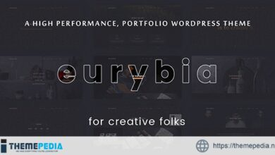 Eurybia – Creative Portfolio WP Theme [Updated Version]