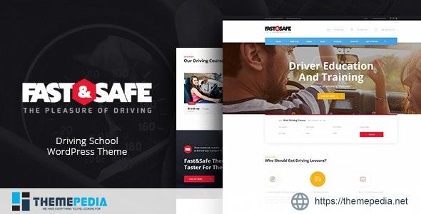 Fast & Safe – Driving School WordPress Theme [Free download]