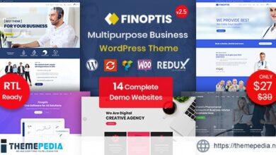 Finoptis – Multipurpose Business WordPress Theme [Free download]
