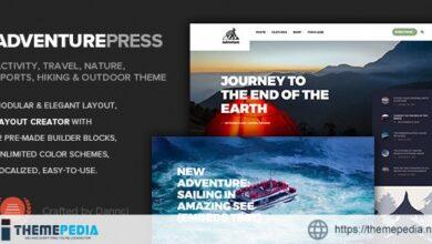 Adventure Press – Outdoor & Activity WordPress Blog [Free download]