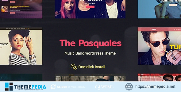 The Pasquales – Music Band, DJ and Artist WP Theme [Updated Version]