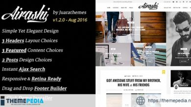 Airashi – Clean Personal WordPress Blog Theme [Free download]