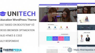 Unitech – Education WordPress Theme [nulled]