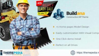 Buildana – Construction & Building WordPress Theme [Free download]
