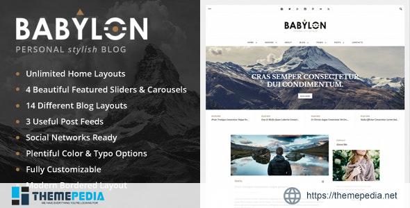 Babylon – Personal Stylish WP Blog [Free download]