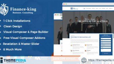 Financial King Corporate WordPress Theme – Finance WP [Free download]