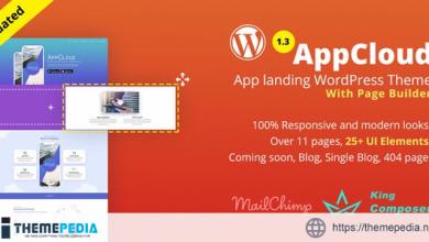 AppCloud – App Landing WordPress Theme [Free download]