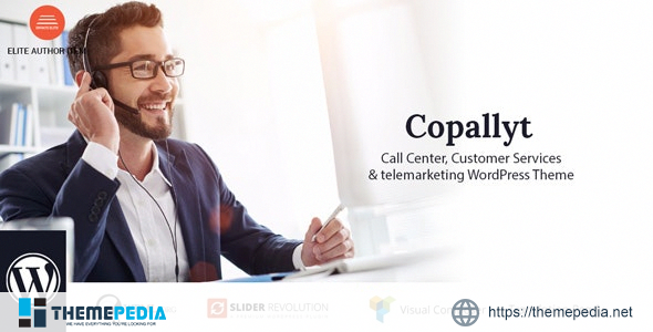 Copallyt – Call Center & Telemarketing WordPress Theme [Free download]