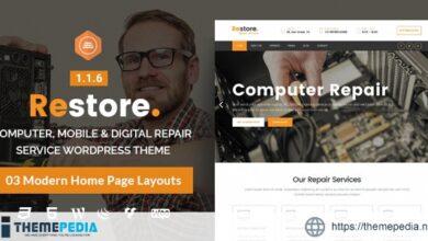 Restore – Computer, Mobile & Digital Repair Service WordPress Theme [Free download]