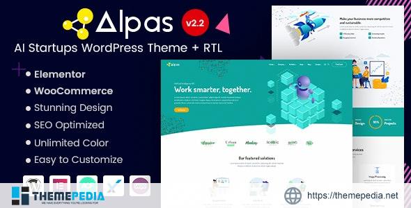 Alpas – Elementor AI Startups WordPress Theme [Free download]