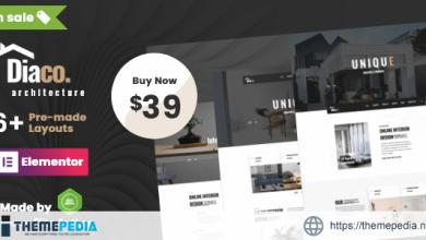 Diaco – Architecture & Interior Design Elementor WordPress Theme [Free download]