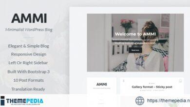 Ammi – Minimalist WordPress Blog [Updated Version]