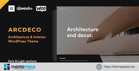 Arcdeco – Architecture Interior Design Theme [Free download]