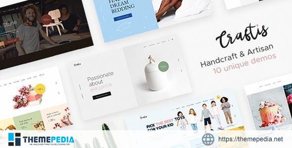 Craftis – Handcraft & Artisan WordPress Theme for Creatives [Free download]