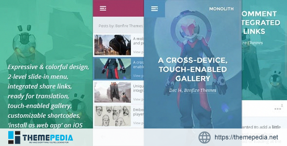 Monolith – WP theme for bloggers and professionals [Updated Version]