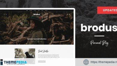 Brodus – Personal Blog WordPress Theme [nulled]