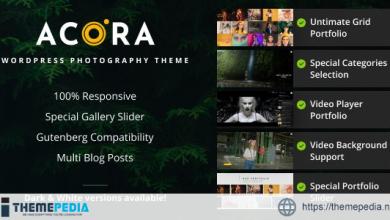 Acora – Photography WordPress Theme [Latest Version]