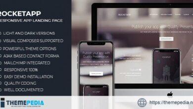 Rocket App – Responsive App Landing WordPress Theme [Free download]
