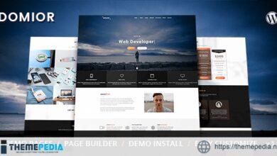 Domior – Creative Personal Portfolio WordPress Theme [Free download]