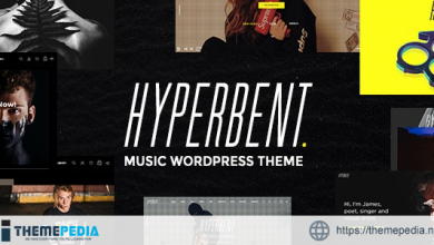 Hyperbent – A Modern Music WordPress Theme [Free download]