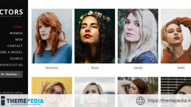 Actors – Model Agencies WordPress CMS Theme [Free download]