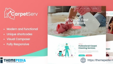 CarpetServ – Cleaning Company, Housekeeping & Janitorial Services WordPress Theme [Free download]